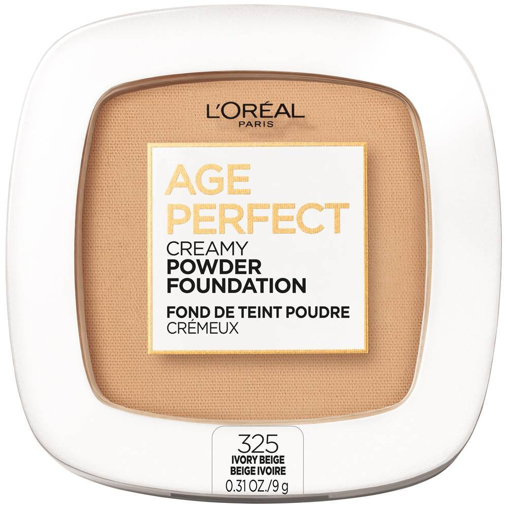 L 39 Oreal Paris Age Perfect Creamy Pressed Powder Foundation With Minerals 325 Ivory Beige 0 31oz