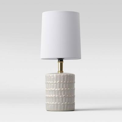 Ceramic Mini Table Lamp Gray (Includes LED Light Bulb)- Opalhouse™