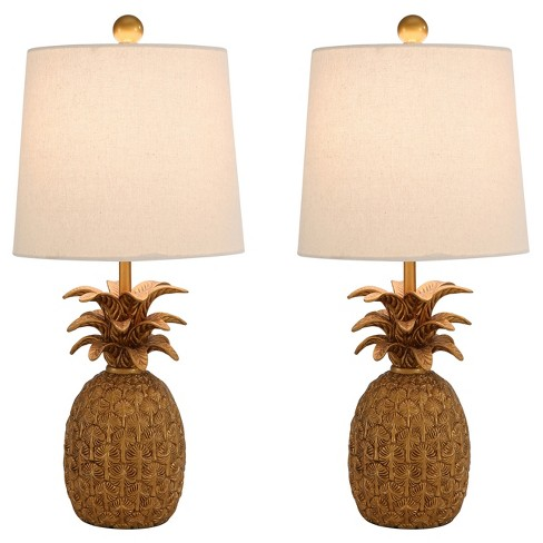 Pineapple Set of 2 Table Lamp Gold - Abbyson Living - image 1 of 4