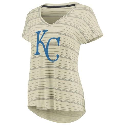 c5d42415 MLB Kansas City Royals Women's Starting Strong Cream Versalux T-Shirt