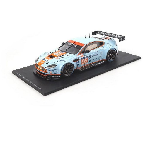 "Aston Martin Vantage V8 ""Gulf"" #95 Winner GTE AM Le Mans 2014 K. Poulsen- D.H.Hansson- N.Thiim 1/18 Model Car by Spark - image 1 of 2"