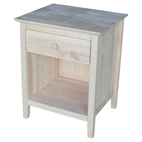 Nightstand Unfinished - International Concepts - image 1 of 7