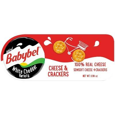 Mini Babybel White Cheddar Cheese & Crackers - 3pk