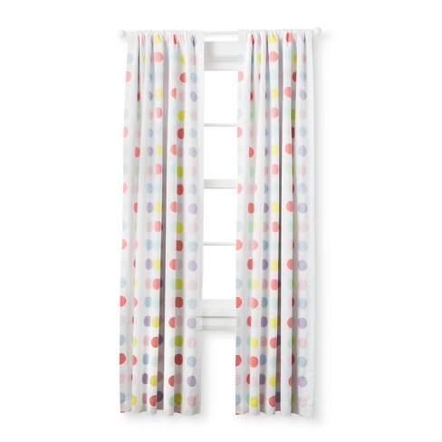 Light Blocking Curtain Panel Bright Dots 63 Cloud Island Multicolored