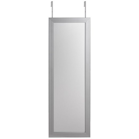 Aaliyah Grey Full Length Over-the-Door/Wall Mounted Jewelry Armoire in Gray - Posh Living - image 1 of 3