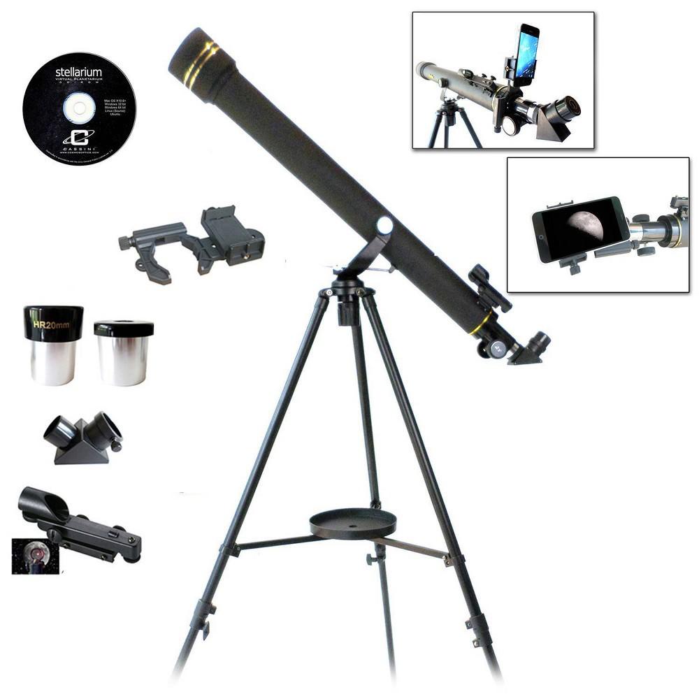 Image of Galileo 800x60 Refracting Telescope - Black