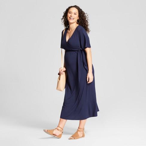e909c4f9f21 Maternity Knit Wrap Dress - Isabel Maternity By Ingrid   Isabel™ Navy L    Target
