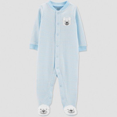 Baby Boys' Thermal Stripe Dog Sleep 'N Play - Just One You® made by carter's Blue 3M
