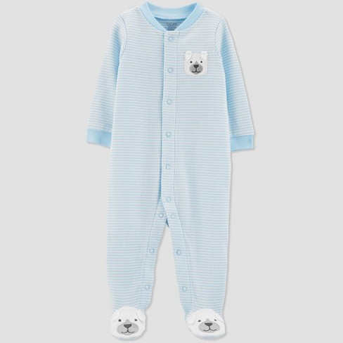 Baby Boys' Thermal Stripe Dog Sleep 'N Play - Just One You® made by carter's Blue - image 1 of 1