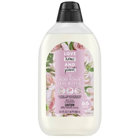 Love Home & Planet EasyDose Ultra-Concentrated Laundry Detergent - Rose - 23.1 fl oz - image 1 of 2