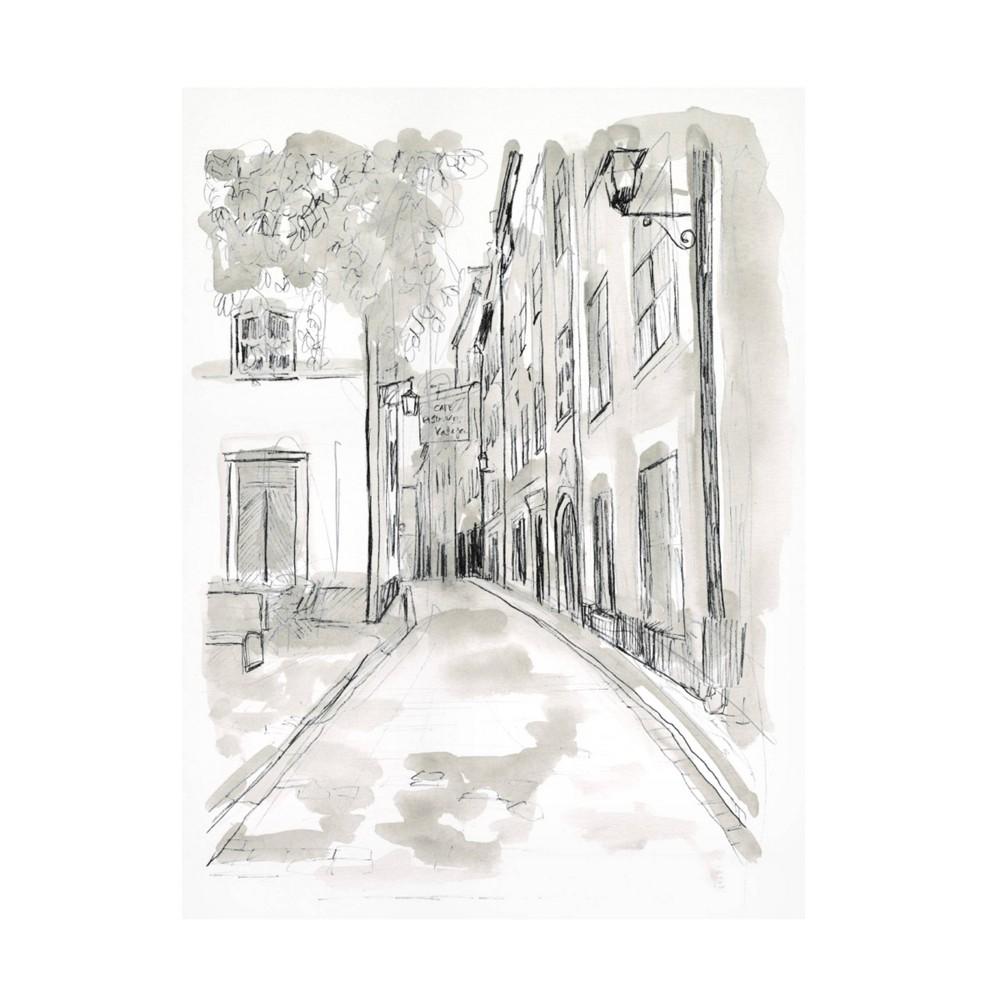 14 34 X 19 34 June Erica Vess 39 European City Sketch Iv 39 Unframed Wall Canvas Trademark Fine Art