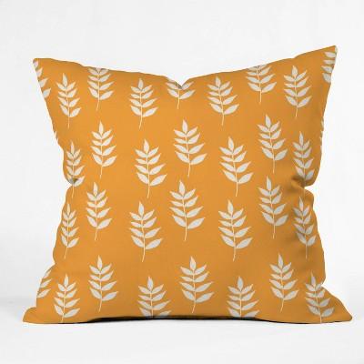 Joy Laforme Summer Garden Mini Leaf Throw Pillow Yellow - Deny Designs