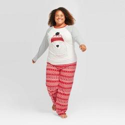 "Women's Plus Size Holiday ""Mama"" Bear Pajama Set - Wondershop™ Gray"