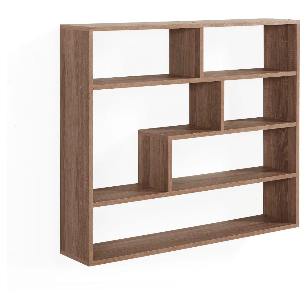 37 X 31 5 Rectangular Shelf Unit Brown Danya B