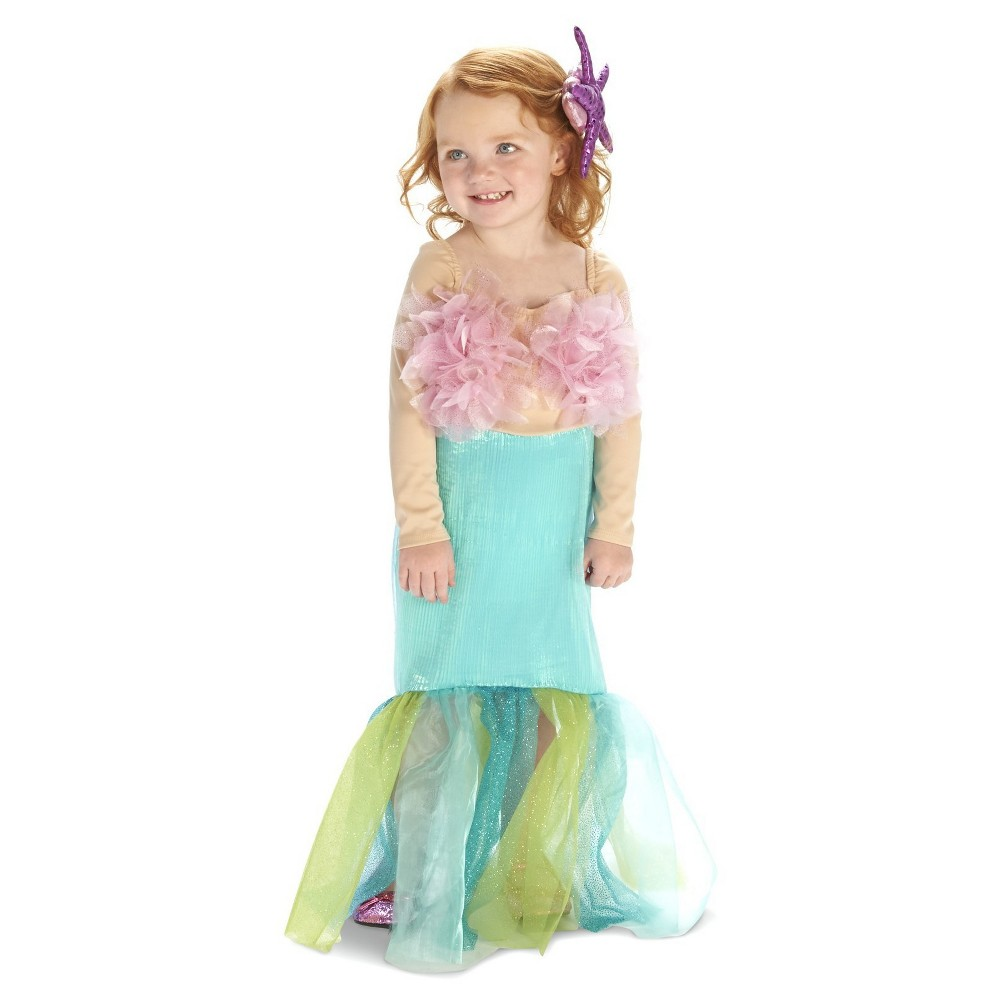 Mermaid Toddler Costume 2-4T, Toddler Girl's, Size: 2T-4T, Multi-Colored
