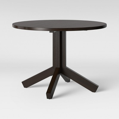 42  Newfield Round Farmhouse Dining Table Reclaimed Oak Brown - Threshold™