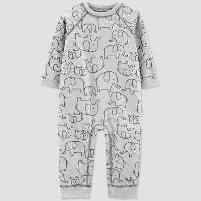 Baby Boys' 1pc French Terry Elephant Jumpsuit - Just One You® made by carter's Gray 3M