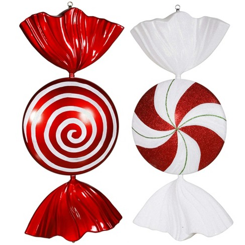 about this item - Peppermint Candy Christmas Ornaments