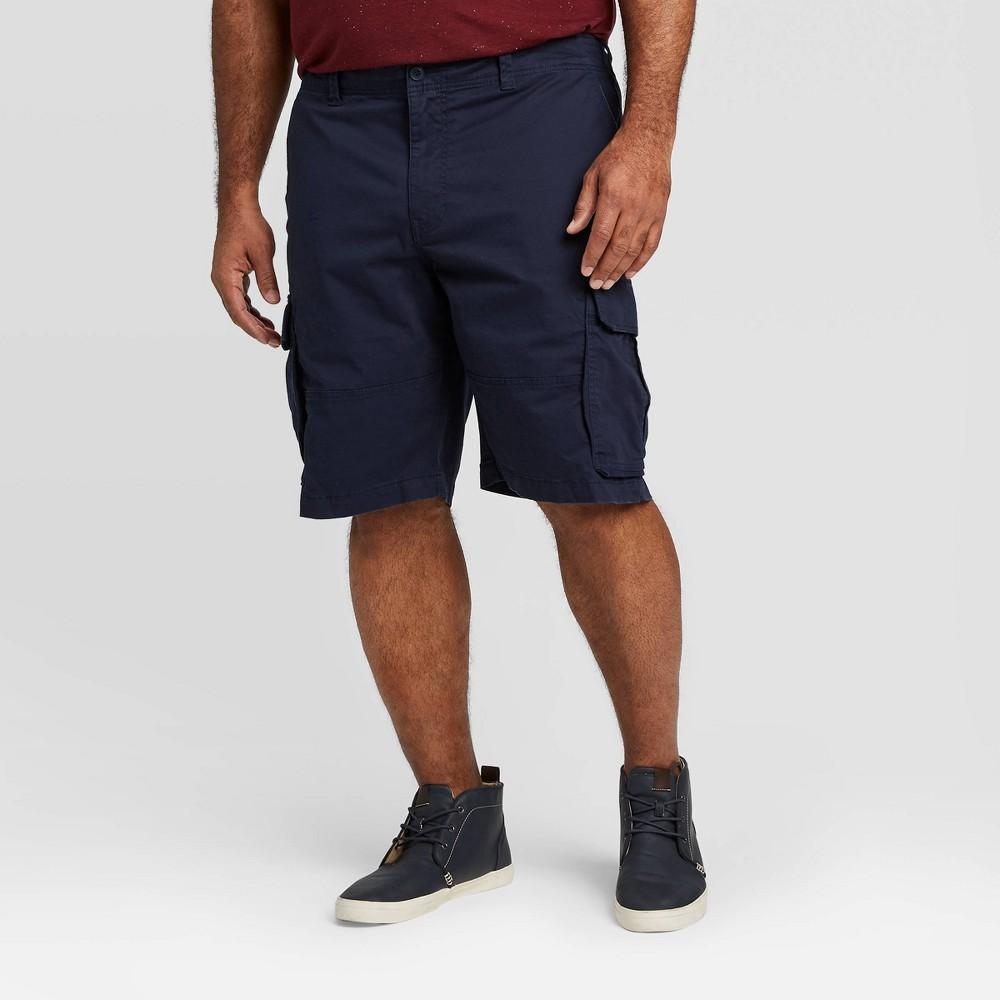 Mens Big & Tall 11 Cargo Shorts - Goodfellow & Co Fighter Pilot Blue 60