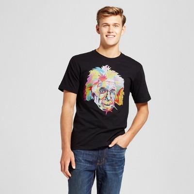 Men's Albert Einstein Graphic T-Shirt - Black L