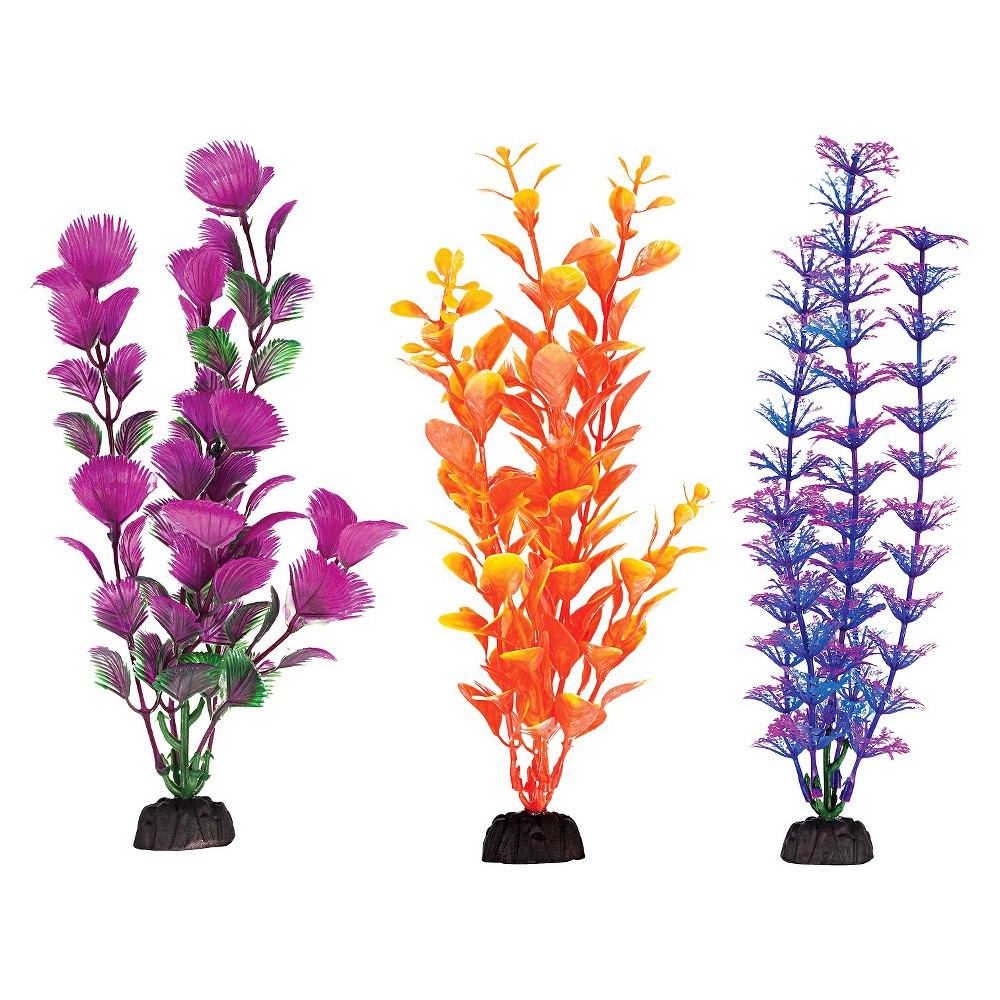Aqua-Plant 8-Inch Colorful Plants 6-Piece Assortment from Penn-Plax, Assorted