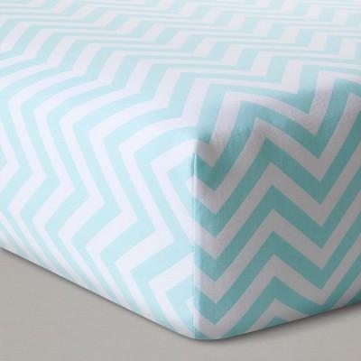 Fitted Crib Sheet Chevron - Cloud Island™ - Blue/White
