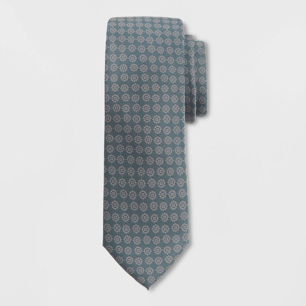 Image of Men's Circle Print Tie - Goodfellow & Co Country Clover One Size, Green