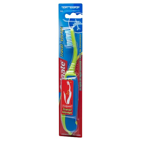 Colgate Travel Toothbrush in Foldable Compact Size with Cover - Soft - Trial Size - 1ct - image 1 of 3