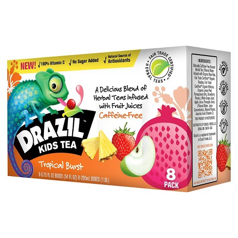 Drazil Kids Tea Tropical Burst Juice - 8pk/6.75 fl oz Boxes - image 1 of 1
