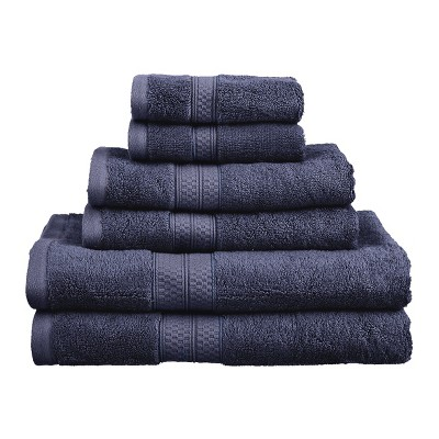 Rayon from Bamboo and Cotton Blend Cozy Plush Assorted 6-Piece Towel Set