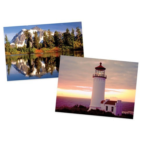 Lighthouse Dawn and Mountain Reflection 300pc Puzzle Set 600pc - image 1 of 2