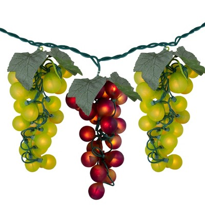 Northlight 100-Count Yellow and Red Grape Clusters Christmas Light - 5ft Green Wire