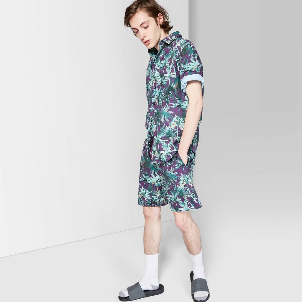 "Image of ""Men's 8"""" Mid-Rise Woven Jogger Shorts - Original Use Deep Plum L, Size: Large, Purple"""
