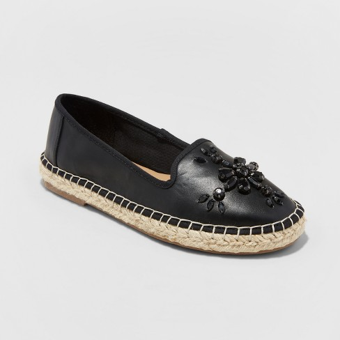 Women's Cadee Espadrille Sandals - A New Day™ Black - image 1 of 3