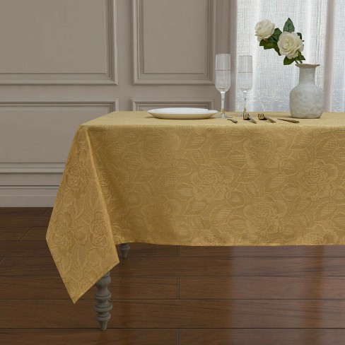 Kate Aurora Shabby Chic Floral All Purpose Fabric Tablecloth - image 1 of 4