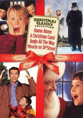 Christmas Classics Box Set: Home Alone/A Christmas Carol/Jingle All the Way/Miracle on 34th Street (DVD)
