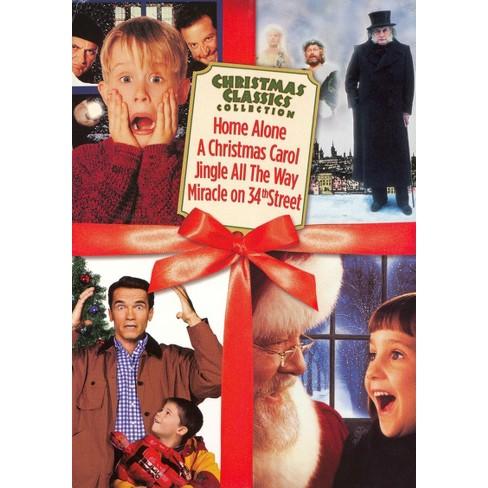 Christmas Classics Box Set: Home Alone/A Christmas Carol/Jingle All the Way/Miracle on 34th Street - image 1 of 1