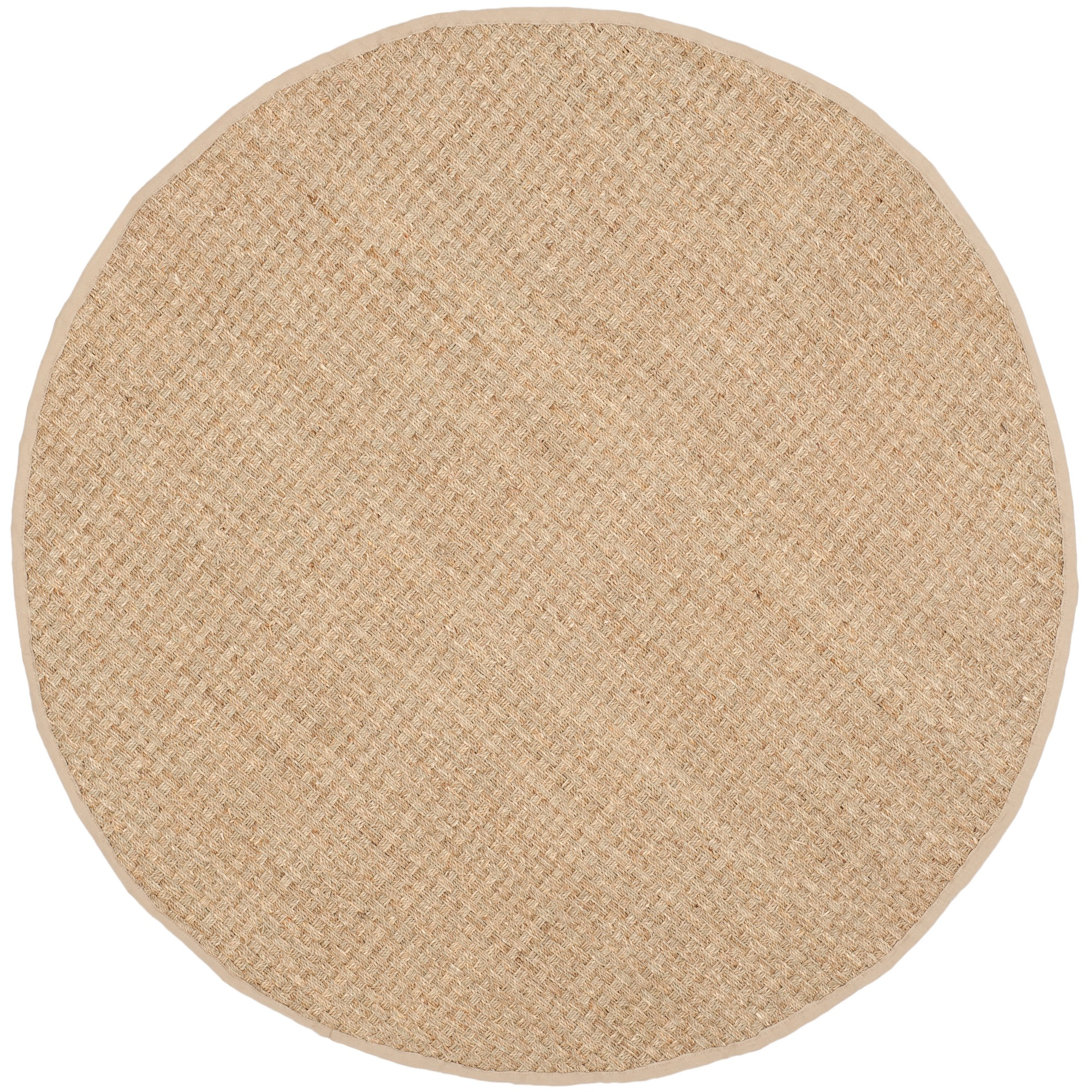 9' Solid Loomed Round Area Rug Natural/Beige - Safavieh