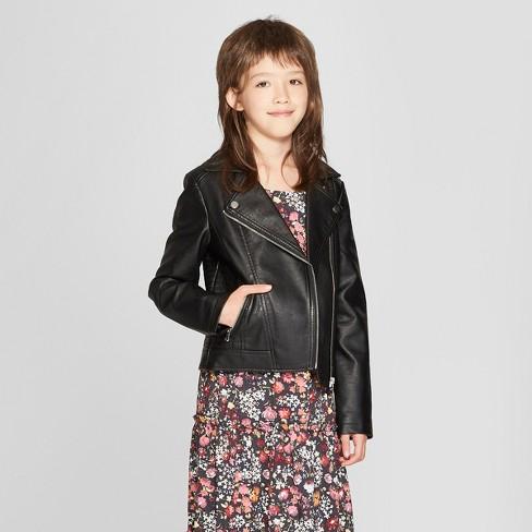 Girls' Moto Jacket - art class™ Black - image 1 of 5