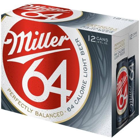 Miller 64 Light Beer - 12pk/12 fl oz Cans - image 1 of 1