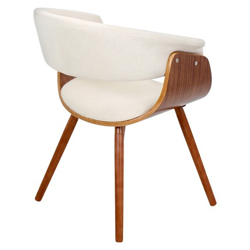 Vintage Mod Dining Chair Wood Beige Lumisource