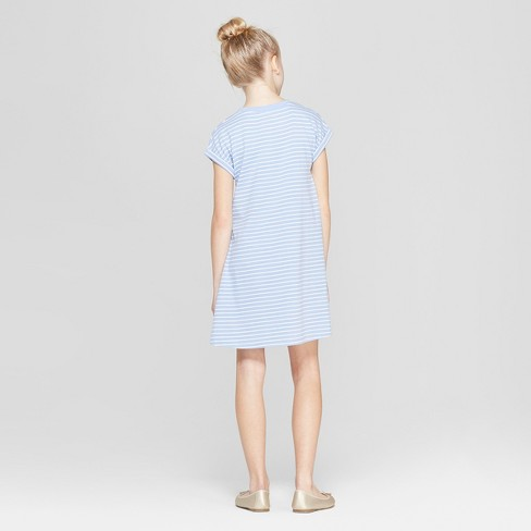 ca71e8d55d40 Girls  Stripped Easter Bunny Pocket A Line Dress - Cat   Jack™ Blue ...