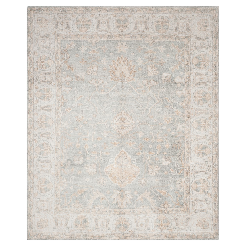 Light Blue/Ivory Holly Knotted Area Rug 8'X10' - Safavieh, Blue White