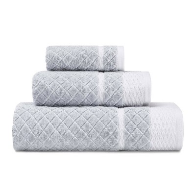 3pc Vintage Trellis Towel Set Gray - Laura Ashley
