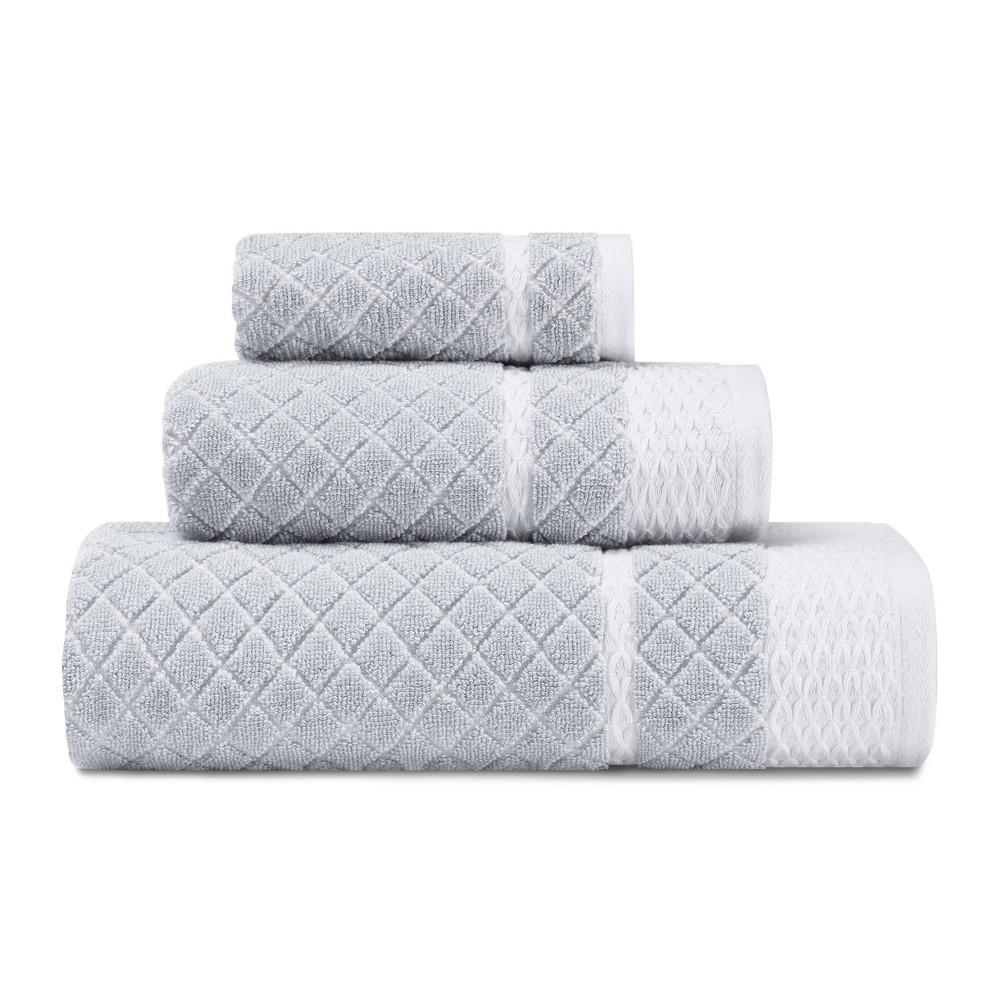 Image of 3pc Vintage Trellis Towel Set Gray - Laura Ashley