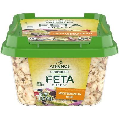 Athenos Crumbled Feta Cheese Mediterranean Herb - 6oz