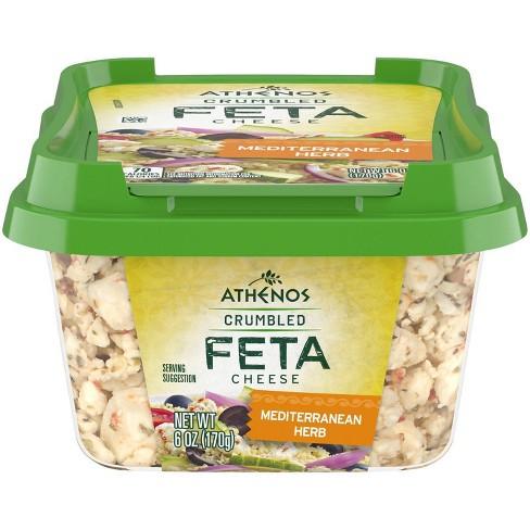 Athenos Crumbled Feta Cheese Mediterranean Herb - 6oz - image 1 of 4
