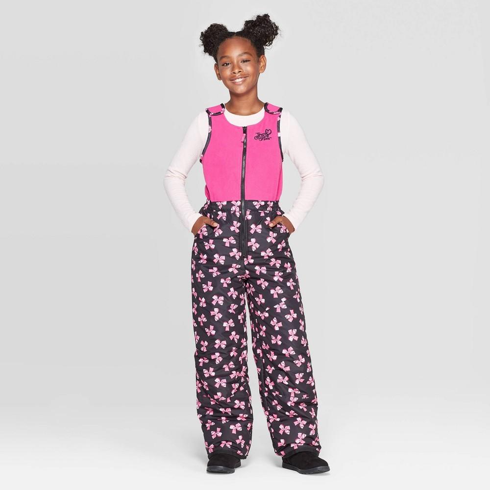 Image of Girls' JoJo Siwa Snow Bib - Pink M, Girl's, Size: Medium