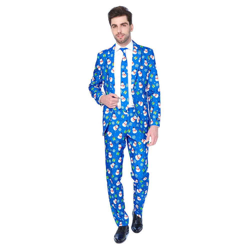 Christmas Blue Snowman Suit - Suitmeister, Men's, Size: Small