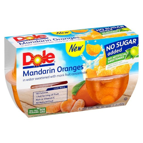 Dole® Mandarin Oranges Fruit Bowl - 4oz 4ct - image 1 of 1